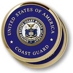 U.S. Coast Guard Academy 2 Coaster Set