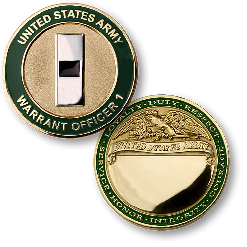 U S Army Warrant Officer 1 Coin