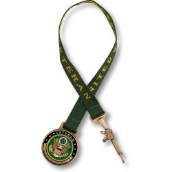 Army Veteran Bookmark with 10 Inch Ribbon
