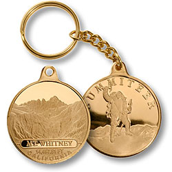 Mt. Whitney Summiteer Keychain MerlinGold