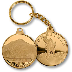 Mt. Baker Summiteer Keychain MerlinGold®