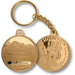 Mt. Shasta Mountain Climber Keychain MerlinGold®