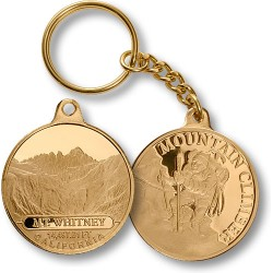 Mt. Whitney Mountain Climber Keychain MerlinGold