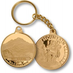 Mt. Baker Mountain Climber Keychain MerlinGold®