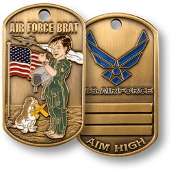 Air Force Brat Dog Tag