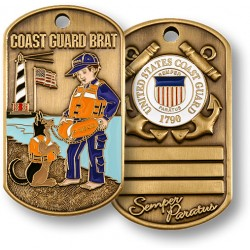 Coast Guard Brat Dog Tag