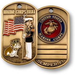 Marine Brat Dog Tag
