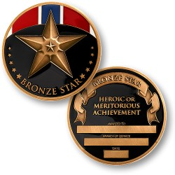 Bronze Star Medal Coin