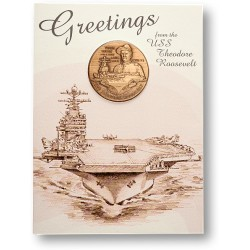 USS Theodore Roosevelt Coin Greeting Card