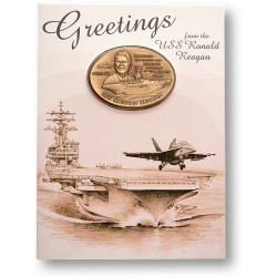 USS Ronald Reagan Coin Greeting Card