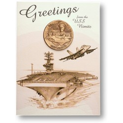 USS Nimitz Coin Greeting Card
