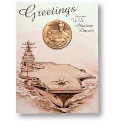 USS Abraham Lincoln Coin Greeting Card