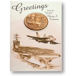 USS Harry Truman Coin Greeting Card