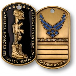 Fallen Heroes Dog Tag - Air Force
