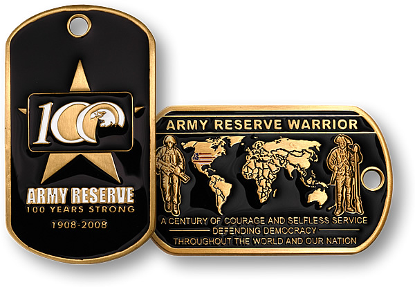 Army Reserve 100 Years Dog Tag