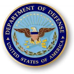 "Department of Defense Adhesive Medallion - 1 3/4"""