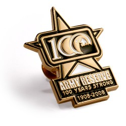 Army Reserve 100 Years Lapel Pin Style 1