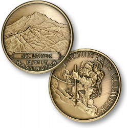 Mt. Baker Mountain Climber Bronze Antique