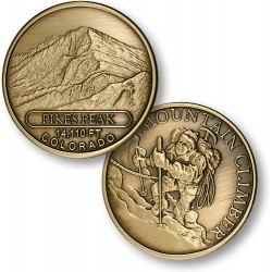 Pikes Peak Mountain Climber Bronze Antique