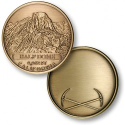 Half Dome Bronze Antique Engravable