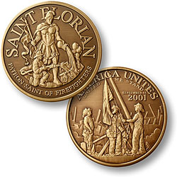 Saint Florian - America Unites Bronze Antique