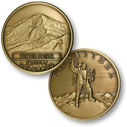 Pikes Peak Summiteer Bronze Antique