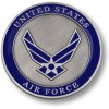 Air Force Adhesive Medallion 3""
