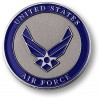 Air Force Adhesive Medallion 1 3/4""