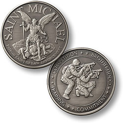 Saint Michael - SWAT 2 Nickel Antique