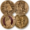 Christian Soldier 4 Coin Set