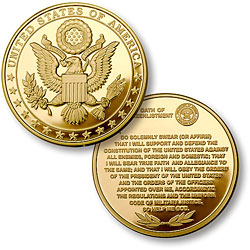 Great Seal - Oath of Re-Enlistment MerlinGold®