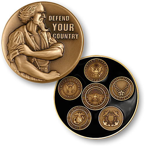 Uncle Sam Defend Your Country Coin