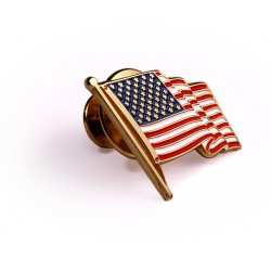 American Flag 10K Gold Lapel Pin