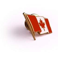Canadian Flag 10K Gold Lapel Pin