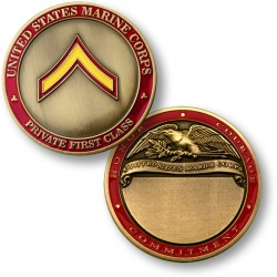 U.S. Marines Private First Class Engravable