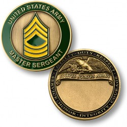 U.S. Army Master Sergeant Engravable