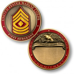 U.S. Marines First Sergeant Engravable