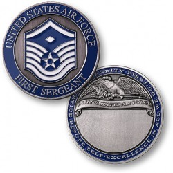 First Sergeant E7 Air Force Engravable