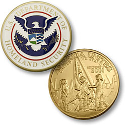 Homeland Security - America Unites MerlinGold® Enamel