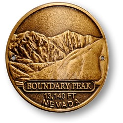 Boundary Peak Hiking Stick Medallion