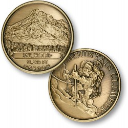 Mt. Hood Mountain Climber Bronze Antique
