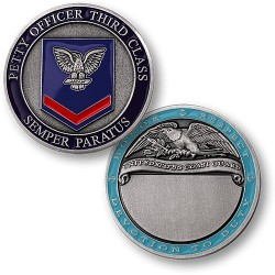 Coast Guard Petty Officer Third Class - Engravable