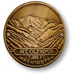 Mt. Olympus Hiking Stick Medallion