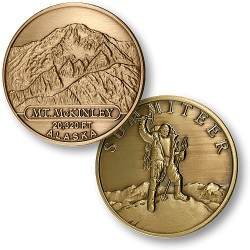 Mt. McKinley Summiteer Bronze Antique