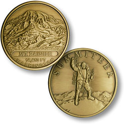 Mt. Rainier Summiteer Bronze Antique