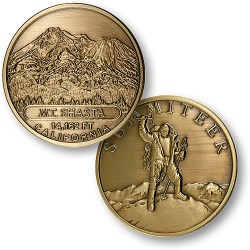Mt. Shasta Summiteer Bronze Antique