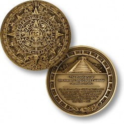 2012 Mayan Prophecy Medallion - 3 Inch