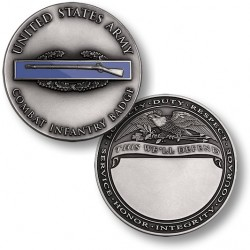 Combat Infantry Badge Engravable Challenge Coin