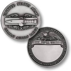 Combat Action Badge Engravable Challenge Coin