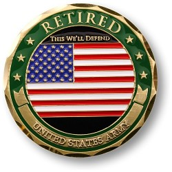 Army Retired Adhesive Medallion